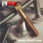 Small Head Carriage bolt DIN608 small round head square neck bolts GB12-Infly Fasteners Manufacturer